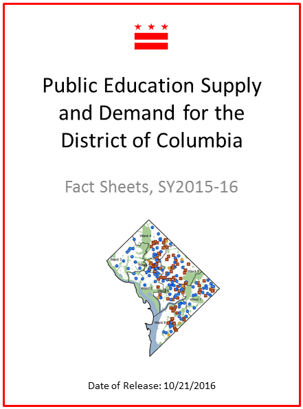 Public Education Supply and Demand for the District of Columbia Fact Sheets for School Year 2015-2016